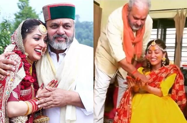 yami gautam shares her haldi ceremony video on father birthday