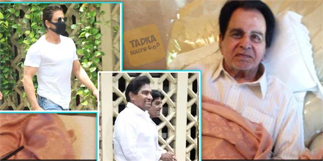 johnny and shahrukh reached dilip kumar house in stylish look and got trolled