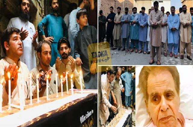 fans prayer and light candles outside dilip ancestral home in pakistan