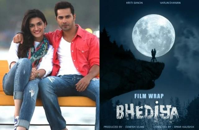 kriti sanon and varun dhawan film  bhediya  shoot ends