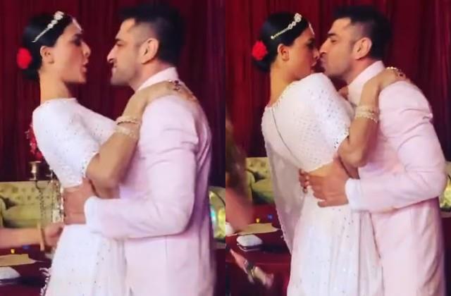 rahul and disha sangeet ceremony eijaz khan kissed girlfriend pavitra punia