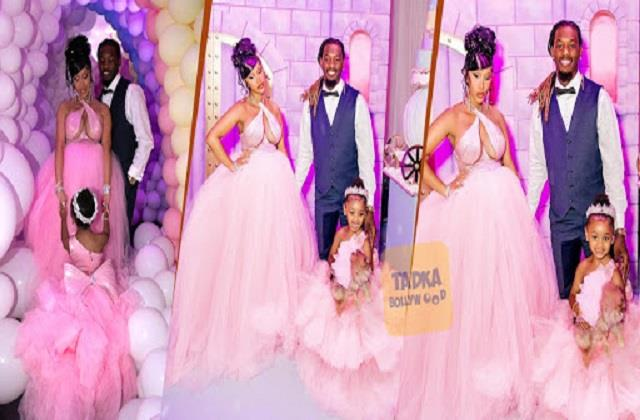 cardi b celebrates her daughter kulture birthday with husband offset