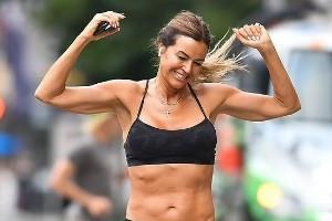 kelly bensimon spotted while jogging around new york