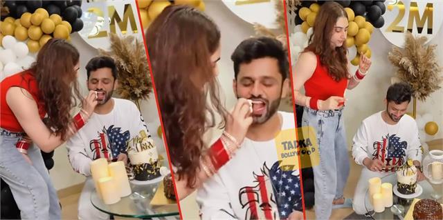 rahul vaidya celebrate 2 million followers on instagram with wife disha parmar