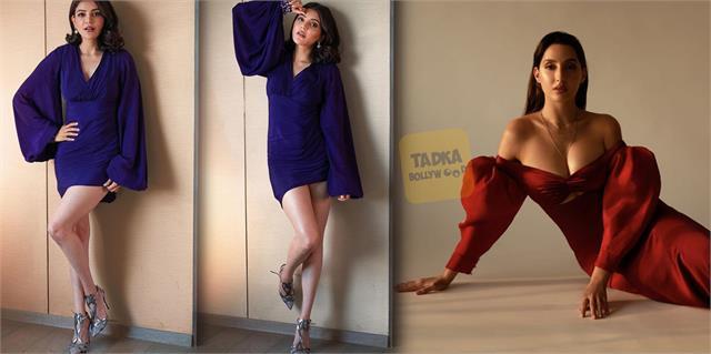 nora fatehi and kajal aggarwal shares hot photos