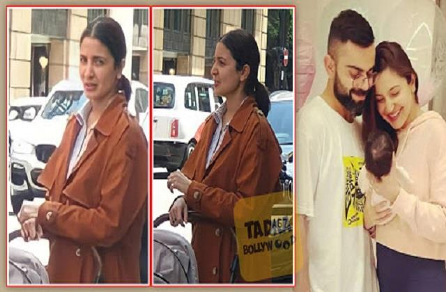 anushka sharma spotted with daughter vamika in london