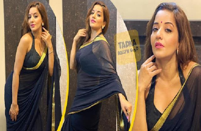 monalisa shares her hot photos in saree look
