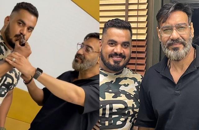 ajay devgn beard look in bodyguard birthday celebration