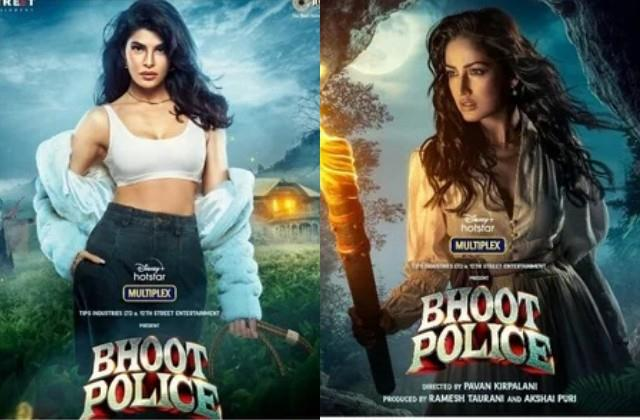 jacqueline and yami gautam s first look out from  bhoot police
