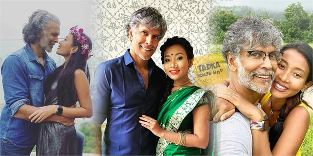 milind soman and ankita konwar wishes wedding anniversary to each other