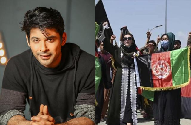 sidharth shukla salute women of afghanistan for standing up for themselves