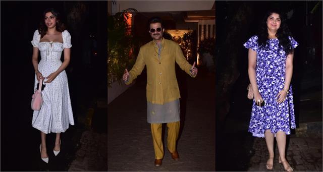 khushi farah and other stars at rhea kapoor karan boolani wedding party