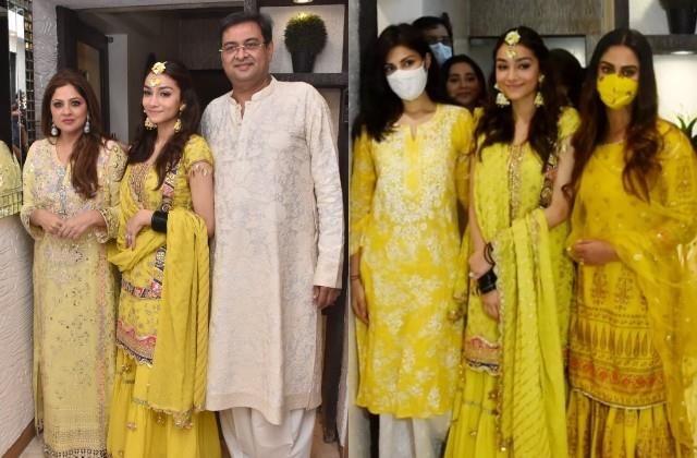 rhea krystle attend rumi jaffery daughter alfia jaffery mehendi ceremony