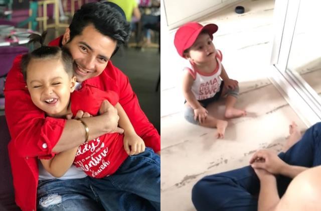 karan mehra shares video with son amid feud with wife nisha rawal