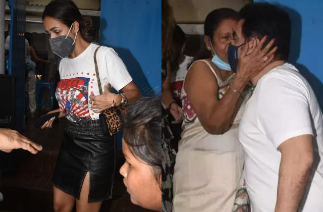 malaika mom kiss former son in law arbaaz as the ex couple step out lunch date