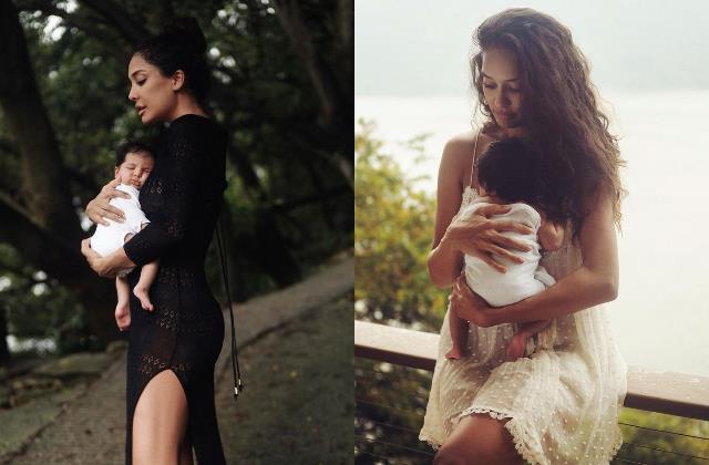 lisa haydon shares first pictures of her newborn baby girl lara
