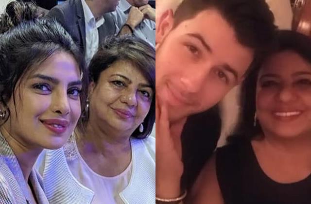 priyanka chopra mother first met with nick jonas in nighty
