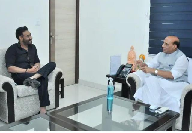 ajay devgan meets defence minister rajnath singh