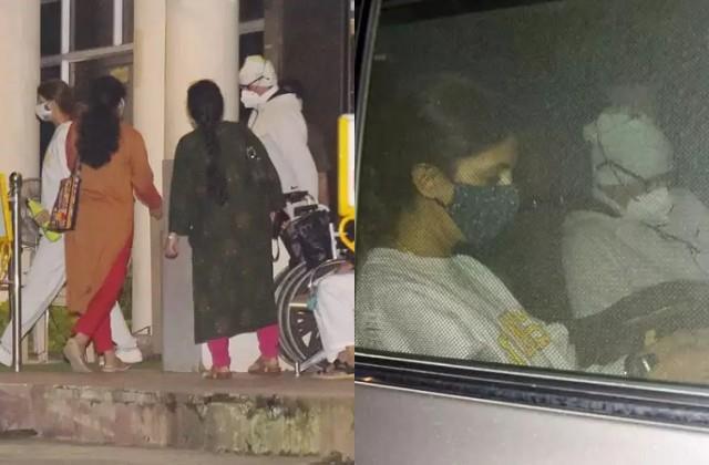 amitabh spotted outside lilavati hospital with daughter shweta bachchan nanda