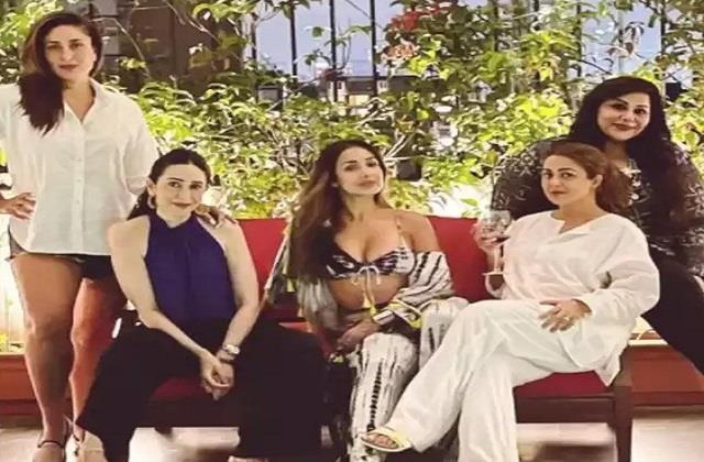 kareena kapoor party with bffs malaika amrita mallika and sister karisma