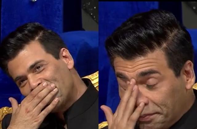 karan johar cried on indian idol 12 set
