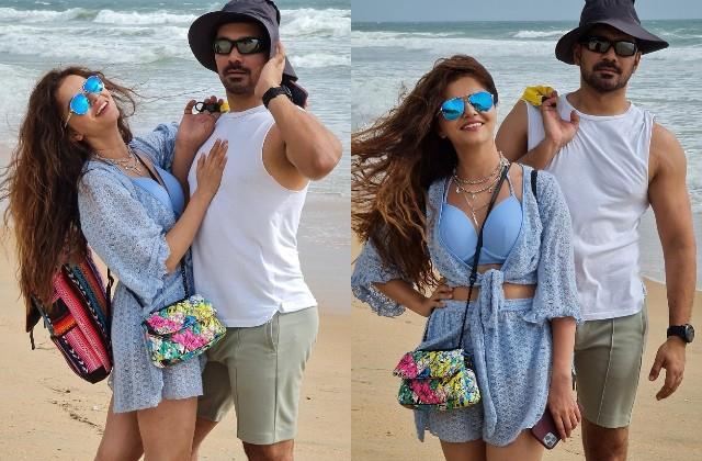rubina dilaik enjoys vacation with husband abhinav shukla in goa
