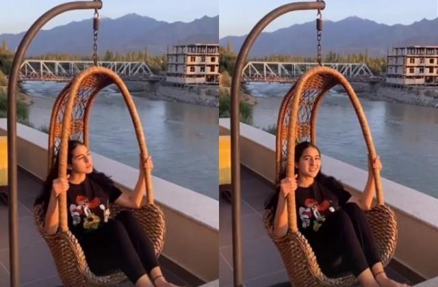 sara ali khan enjoys vacation in ladakh
