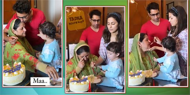 hina khan celebrate her mother birthday