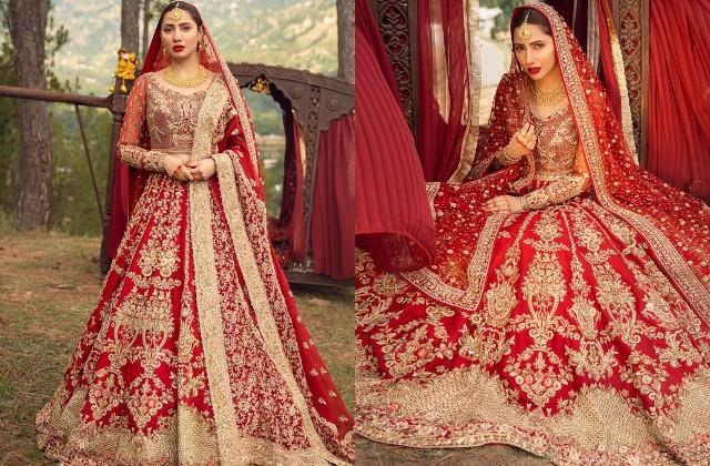 shahrukh khan heroine mahira khan got bridal photoshoot