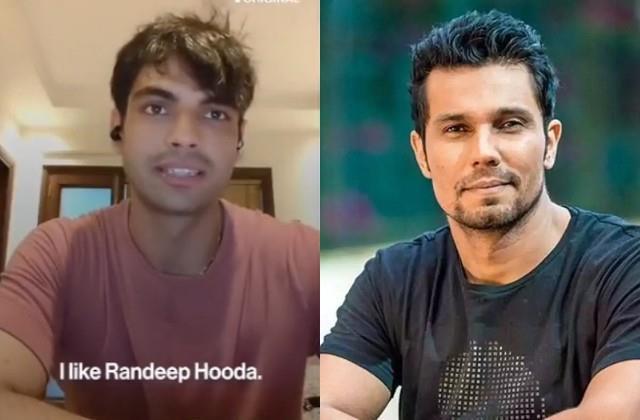 gold medalist neeraj chopra is fan of randeep hooda