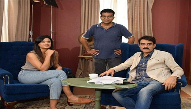 shweta tiwari and ashwat bhatt shoots for swad in delhi