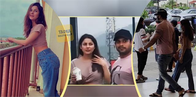 sidharth shukla shehnaaz gill spotted together in lonavala