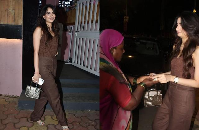 shweta tiwari daughter palak tiwari help poor lady outside the restaurant