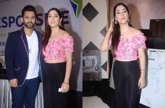disha parmar look glamorous as she spotted with hubby rahul vaidya in the city