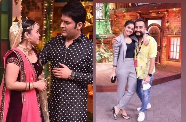 sumona chakravarti is back in the kapil sharma show shares photo from set