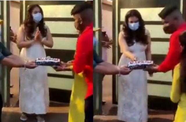people furious after seen kajol cake cutting video with fans