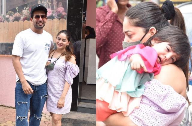 jay bhanushlai spotted with wife maahi vij and daughter tara