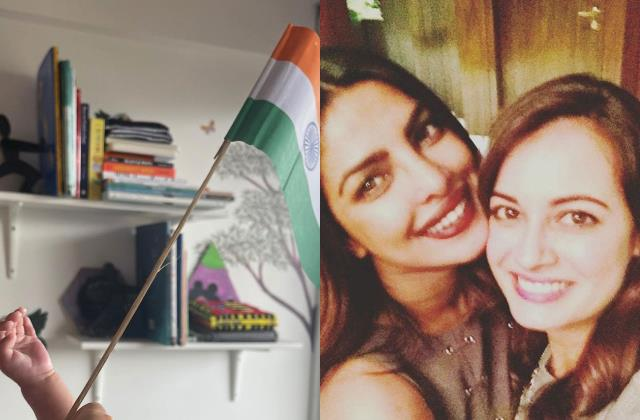 dia mirza share glimpse of her son avyaan as she wishes independence day