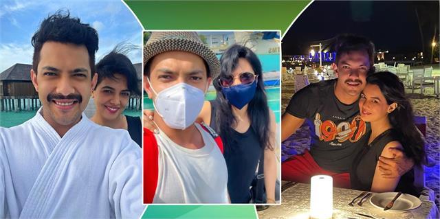 aditya narayan enjoys maldives vacation with wife shweta agarwal