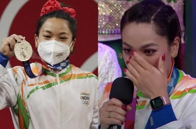 silver medalist mirabai chanu arrived as a guest in show  dance deewane