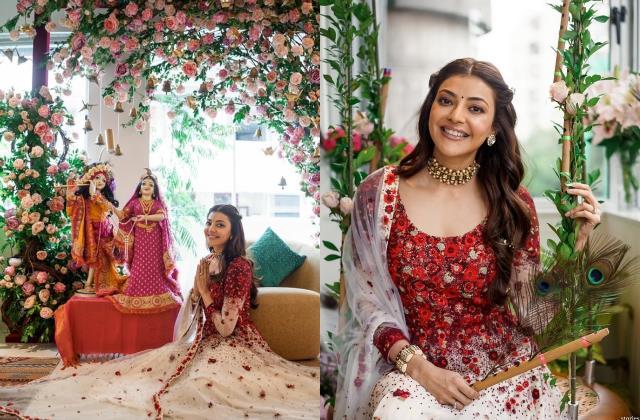 kajal aggarwal become radha and actress celebrate janmashtami like this