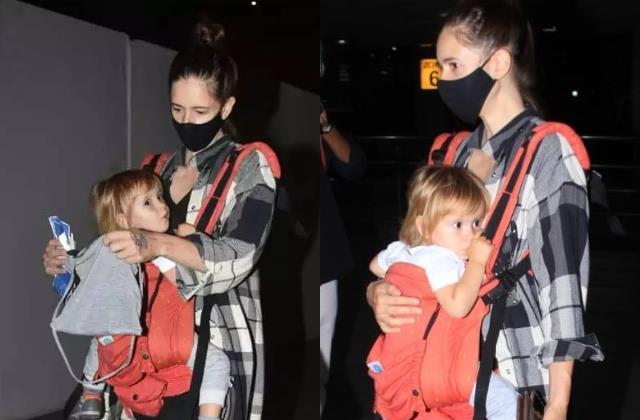 Cuteness Overloaded: एकदम डाॅल लगती हैं कल्कि कोचलीन की बेटी, एयरपोर्ट पर मां से यूं लिपटी दिखीं सप्पो