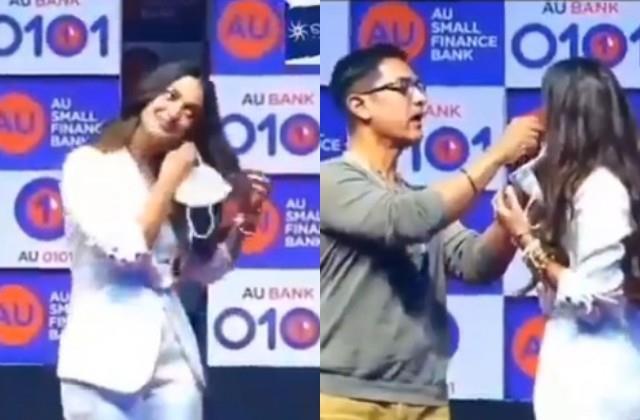 kiara advani and aamir khan interesting video viral
