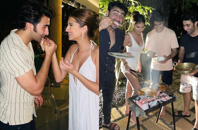 aadar jain celebrate his birthday with girlfriend tara sutaria in alibaug