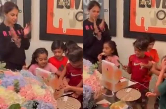 riteish deshmukh share genelia d souza birthday celebrations video with kids
