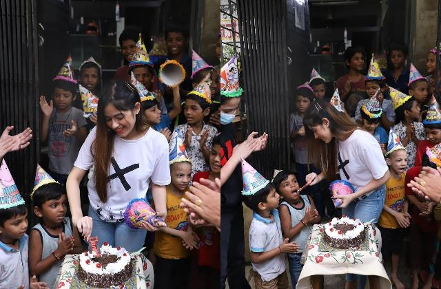 jannat zubair rahmani celebrates 20th birthday with poor kids
