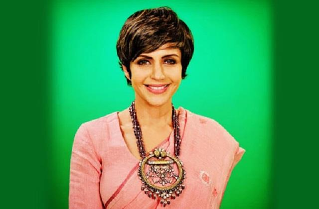 mandira bedi shares her beautiful photo in saree look