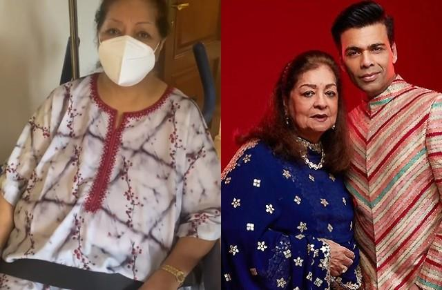 karan johar reveals mother hiroo had 2 massive surgeries