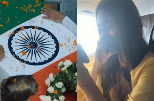 kiara gets emotional seen captain vikram aka sidharth funeral scene in shershaah