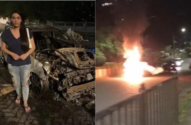 ghum hai kisikey pyaar meiin fame yamini car catches fire actress save herself
